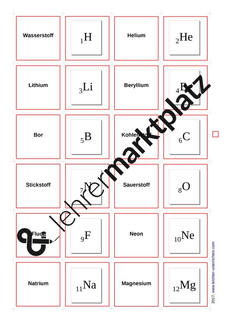 9 best Arbeitsblätter Chemie images on Pinterest | Chemistry ...