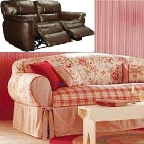 Reclining LOVESEAT Slipcover Shabby Toile Red adapted for Dual Recliner Love Seat & 8 best Slipcovers images on Pinterest | Recliners Loveseat ... islam-shia.org
