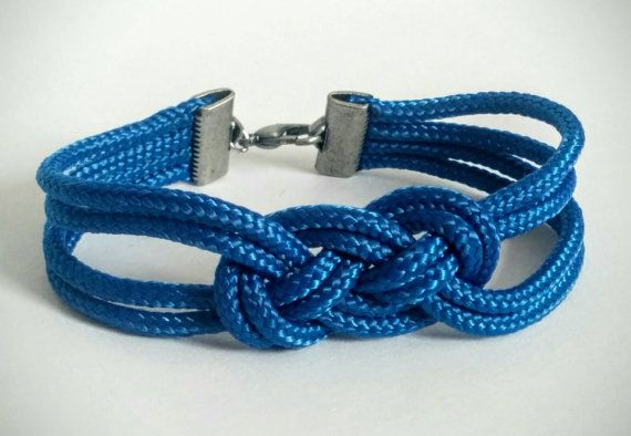 Check out this blue knot rope bracelet in my Etsy shop! https://www.etsy.com/listing/272501862/blue-knot-rope-bracelet