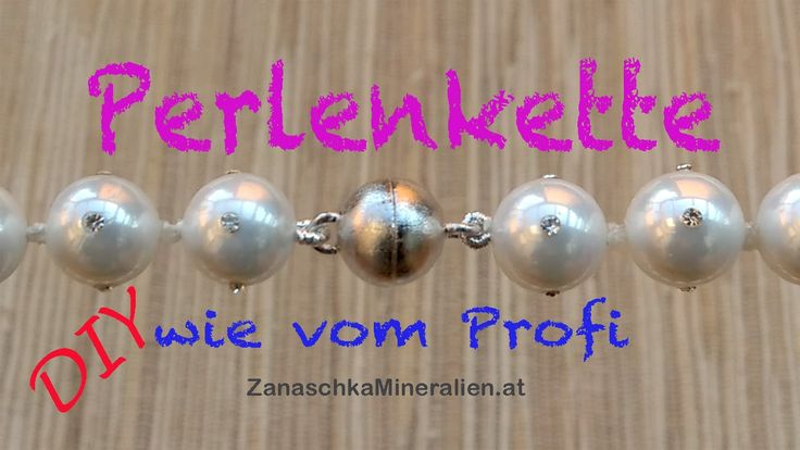 Hier zeige ich euch wie ihr selber, profimäßig eine Perlenkette mit Magnetschließe knoten könnt. Perlenketten selber machen ist kein Problem :-) Natürlich kö...