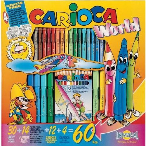 Szinezők és kifestők gyerekeknek - Carioca World 60 darabos ovis szinező és kifestő készlet - 1,990Ft - Carioca ovis szinezők, kifestők gyerekeknek