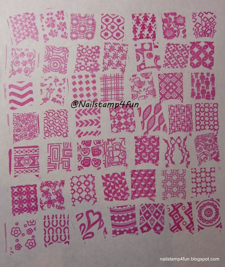 Nail Stamp 4 Fun: Swatches of Cheeky Jumbo Plate 10: Happy Nails
