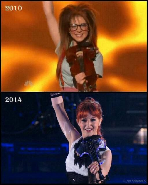 Awesome photo I found of Lindsey Stirling America's got talent auditions