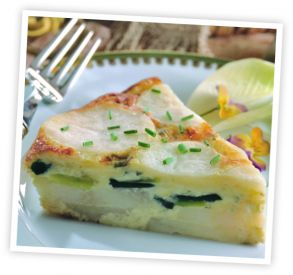 Potato and Leek Tart with Kings Choice® with Edam Cheese   DCI Cheese Company