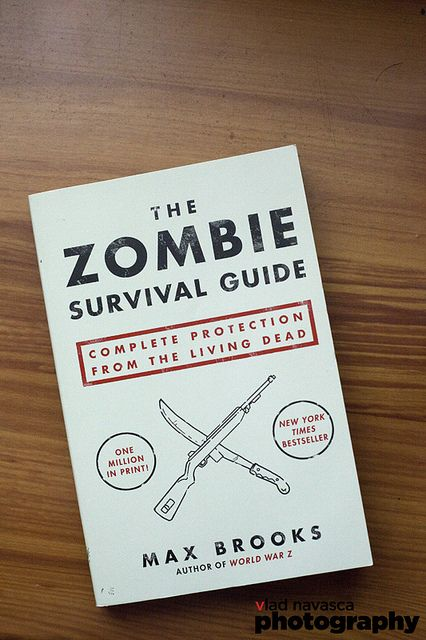 The Zombie Survival Guide, need to finish reading this.
