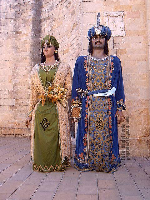 Gegants Moros de la Ciutat de  Tarragona. Valatxo i Maria.