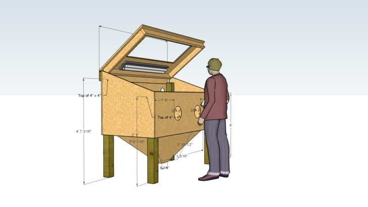 Homemade Tools Plans | Messing around with ideas for homemade sandblast cabinet.