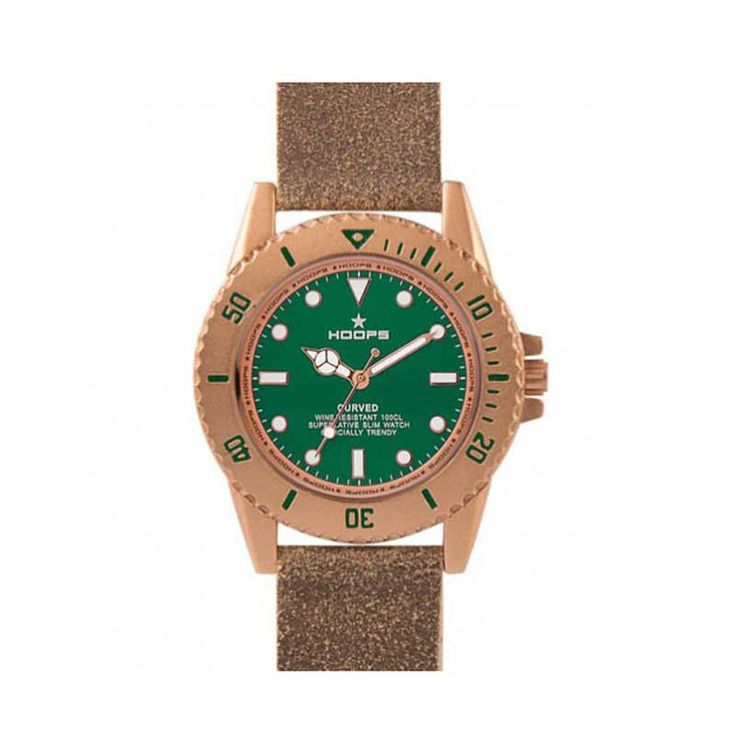 Hoops Orologi - Curved Verde 2515l-10 from Gioielleria Amadori