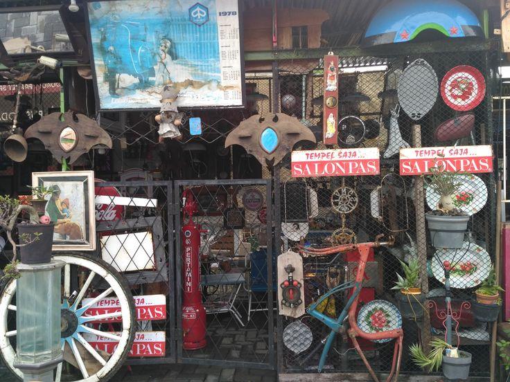 Old stuff shop at Kota Lama,Semarang, Indonesia.