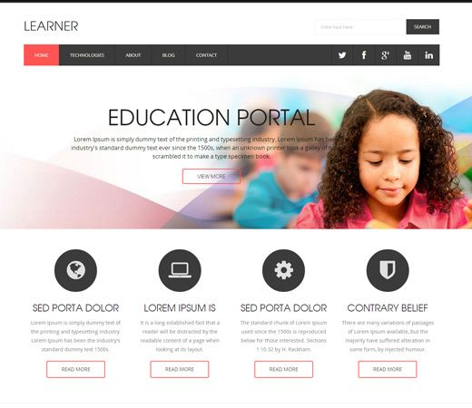 15 best Free Education HTML Templates images on Pinterest | Free ...