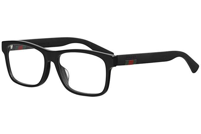 607d562668ac Gucci GG0176OA Plastic Rectangular Eyeglasses Size 56 mm Review ...