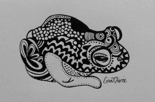 Zentangle Frog By Lisa Cherie S Art Lisa S Art Art