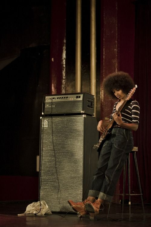 Esperanza Spalding. Just a woman, her bass, and a stack of speakers. Fly.