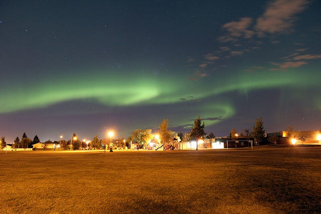 Yes, we get Northern Lights here. As seen from my backyard.