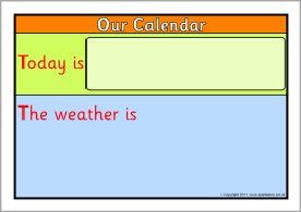 Classroom calendar display set (SB88) - SparkleBox