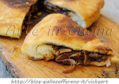 Focaccia ripiena di cipolle in padella ricetta facile vickyart arte in cucina