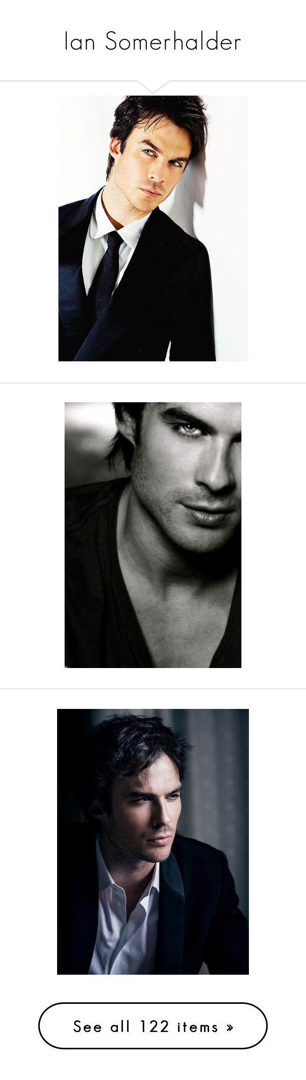 """""""Ian Somerhalder"""" by artemisa-538 ❤ liked on Polyvore featuring ian somerhalder, backgrounds, men, people, the vampire diaries, vampire diaries, pictures, boys, guys and pics"""