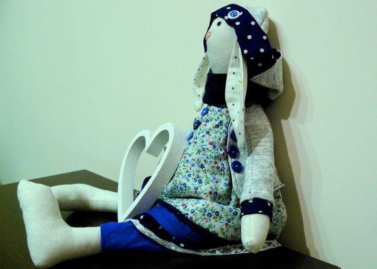 handmade tilda bunny girl