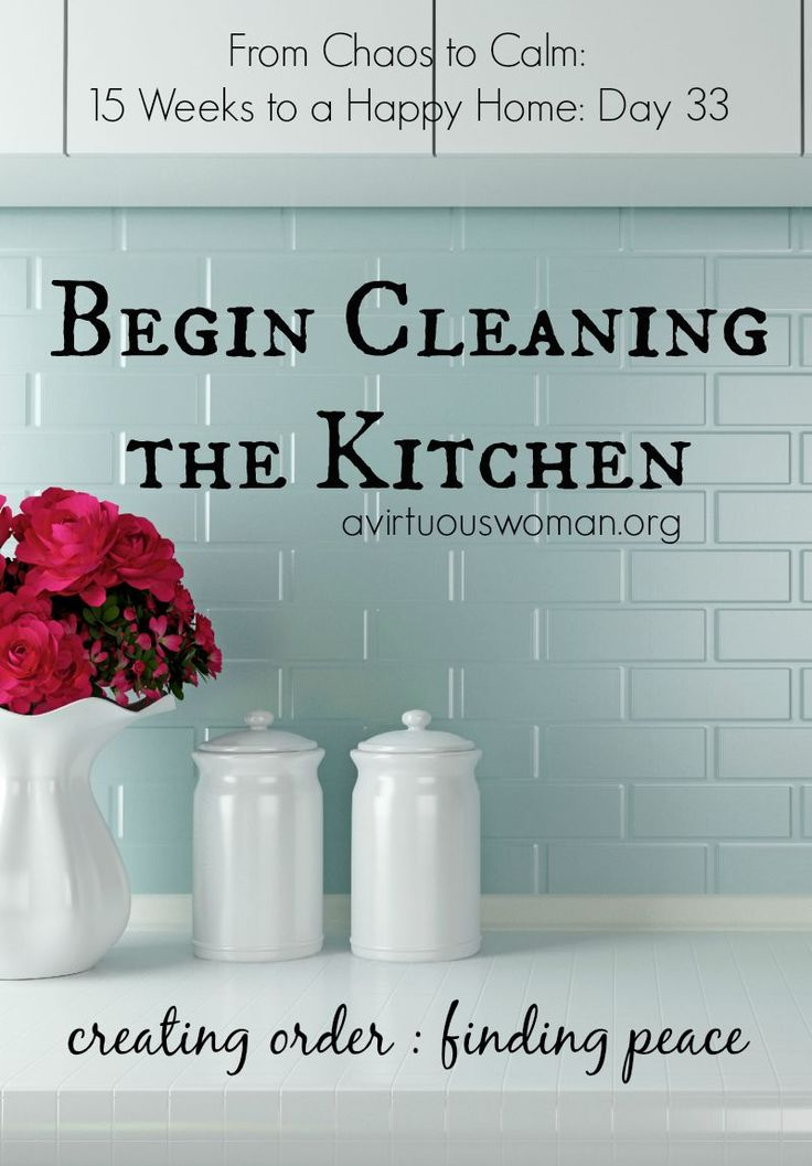 Begin Cleaning the Kitchen @ AVirtuousWoman.org