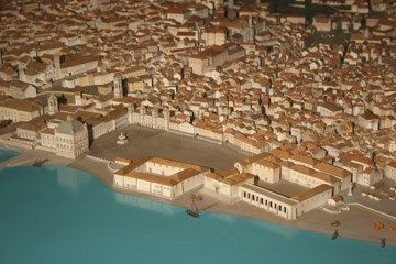 Maqueta de Lisboa antes do terramoto de 1755