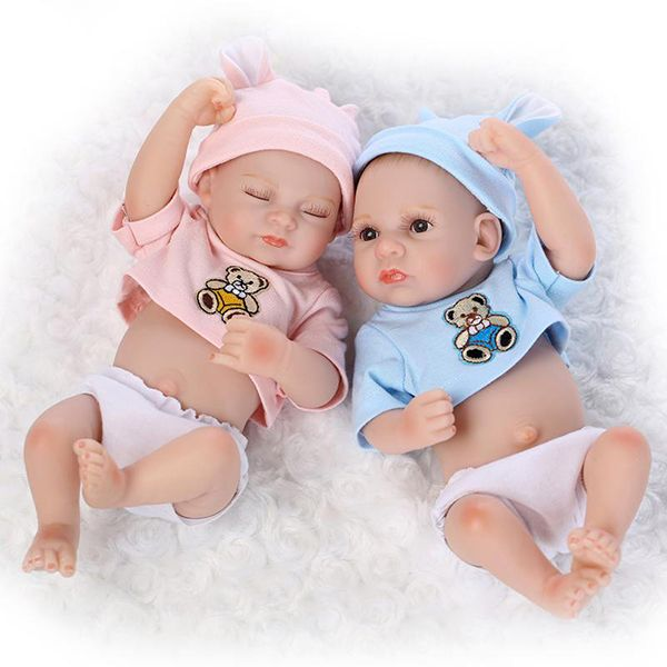 Us 35 99 10 10inch Twins Reborn Baby Doll Silicone Lifelike Boy Girl Play House Toy Baby Kids Mother Care From Home And Garden On Banggood Com Boy Baby Doll Reborn Baby Dolls