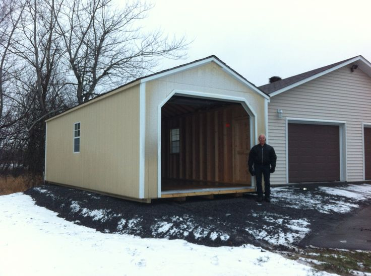 Portable Wooden Garages : Images about prefab garage sheds on pinterest