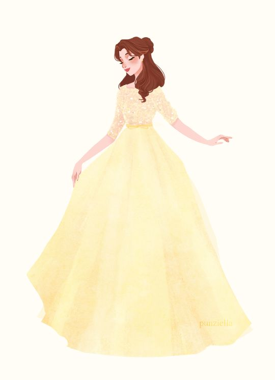 I would totally wear the heck out of this dress! Awesome modern rendition of Belle's yellow dress.