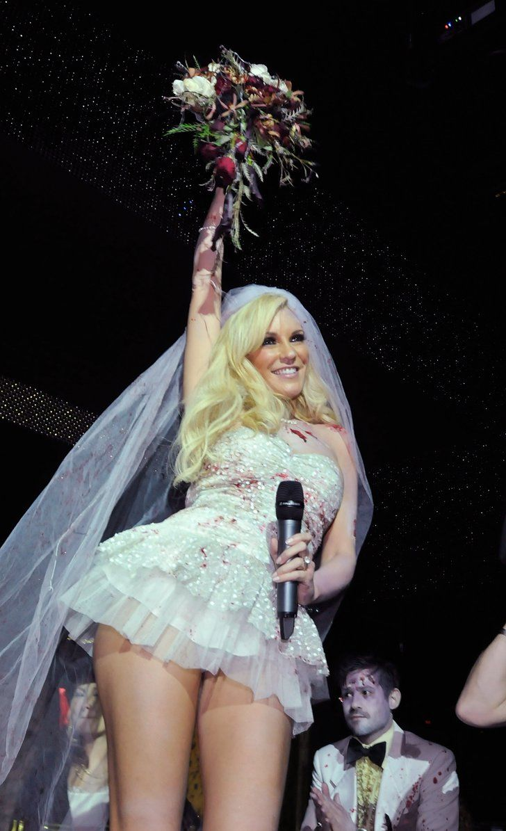 Pin for Later: 57 Supersexy Celebrity Halloween Costumes  Playmate Bridget Marquardt showed skin as a bride in 2010.