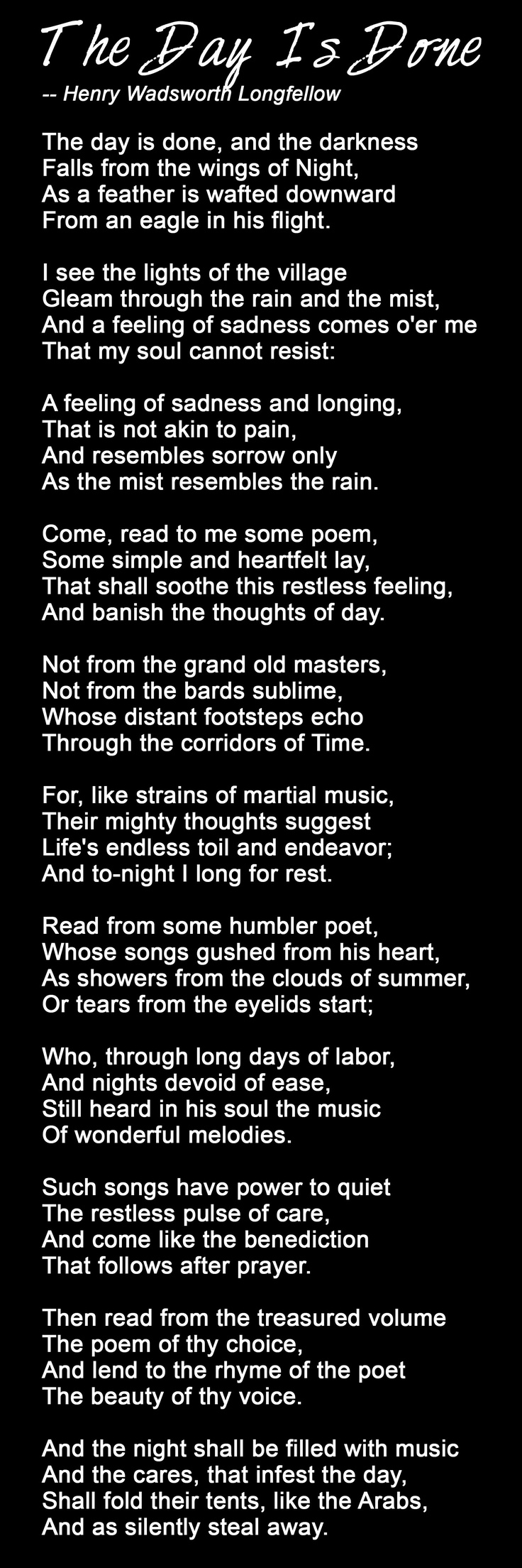H.W. Longfellow....one of my favorite poems!