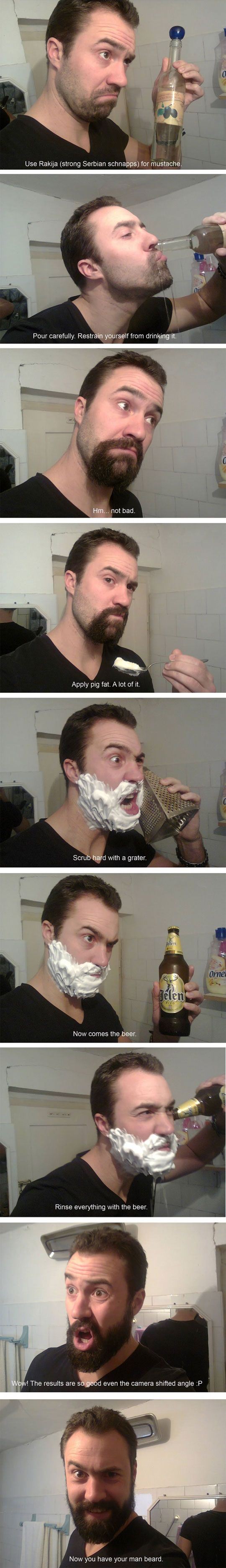 How to grow a man beard  // funny pictures - funny photos - funny images - funny pics - funny quotes - #lol #humor #funnypictures