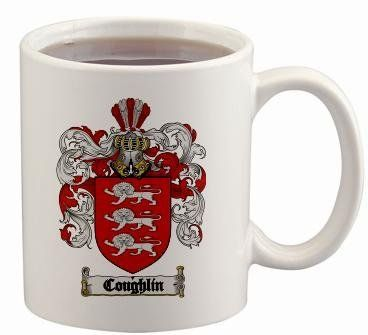 $15.99 Coughlin Coat of Arms Mug / Family Crest 11 ounce cup