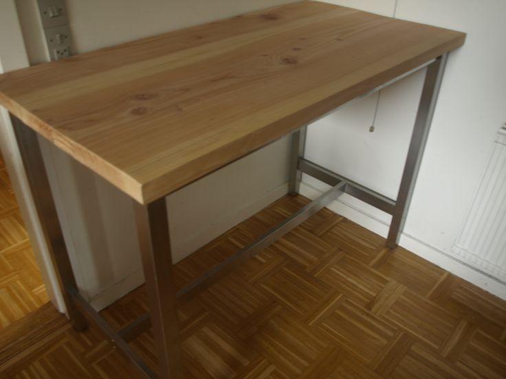 Ikea Hack. Utby bar desk with wooden top (Douglas Fur).