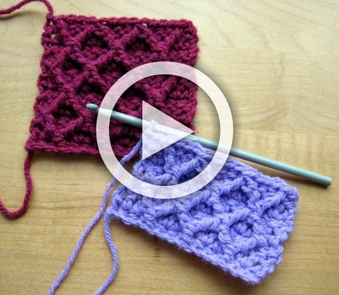 Hello everyone! Here is a video about Diamond Trellis Stitch...