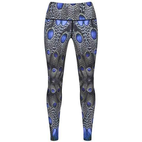 Peacock Leopardus Leggings #Activewear #Gymwear #FitnessLeggings #Leggings #Tikiboo #SpacePrint #Running #Yoga