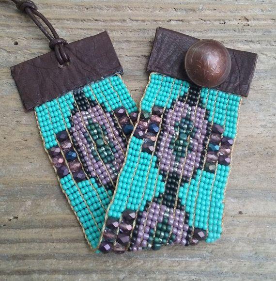 Boho chic Lost Lakes seedbead bracelets southwest by Adornments925