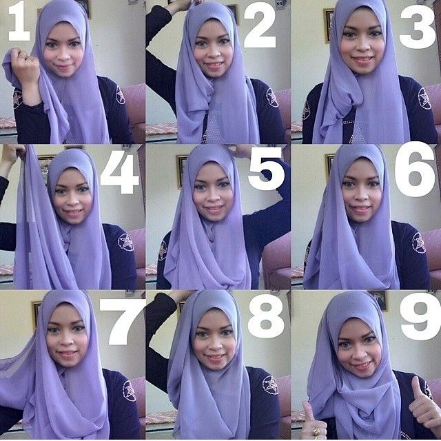 I like this beautiful layered hijab tutorial, pinned back and covering the chest area, it's so simple yet looks gorgeous. To create this look, follow the steps listed below: 1- Place the hijab on your head with a long and…
