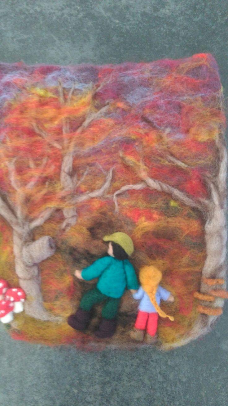 Needle felted autumn