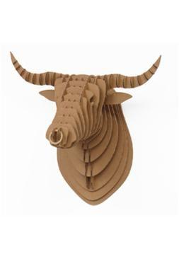 """mounted bull head cardboard"""