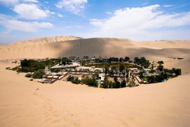 The Huacachin Oasis in the Sechura Desert, Peru