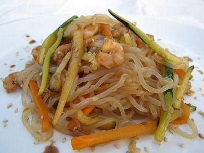 Spaghetti Shirataki con Gamberetti e Verdurine|Pasta Shirataki di Konjac | Miracle Noodle Italia