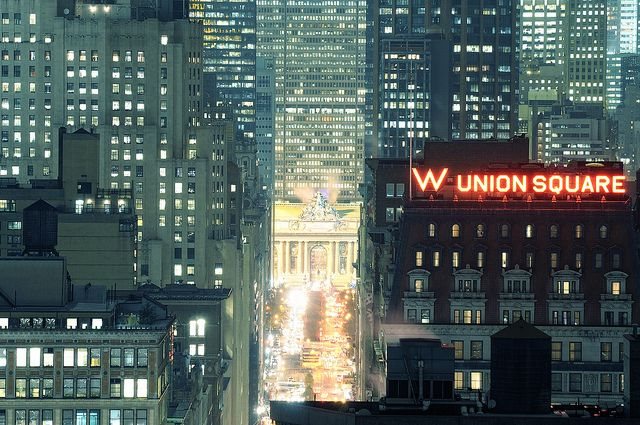 NYC. Grand Central Terminal and Park Avenue at Night | Flickr andrew c mace