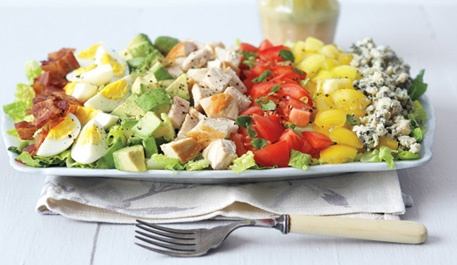 Chopped Cobb Salad: Brunch Ideas, Chops Salad, Lunches Parties, Summer Dinners, Drinks Recipes, Chops Cobb Salad Recipes, Parties Ideas, Dinners Parties, Favorite Recipes