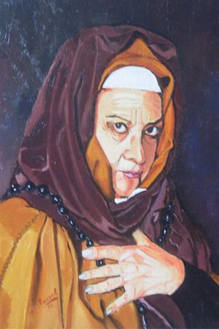 Titulo: anciana, óleo sobre tabla, 47 x 39.
