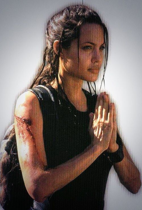 Angeline Jolie as Lara Croft