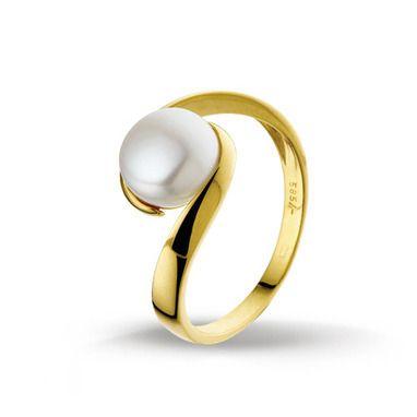 Huiscollectie 4014243 Gouden parel ring