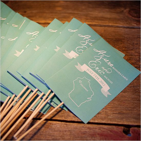 state inspired wedding programs