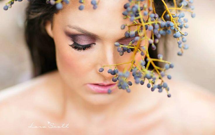 Beautiful photo shoot of woman with floral headpiece.  www.larascott.co.za
