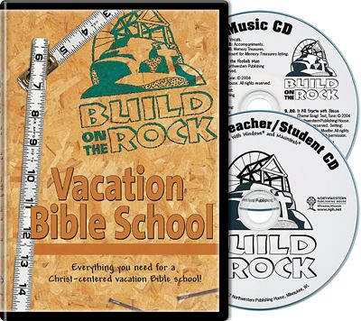 Build on the Rock VBS 2-disc set - Northwestern Publishing House - Give kids a firm foundation in God's Word with this exciting vacation Bible school program! Featuring themed lessons, plus ideas for crafts, snacks, and games, Build on the Rock will help students learn solid biblical truths on which they can build for years to come. Everything needed to plan and implement this rewarding VBS program is housed in a two-disc digital kit. Order yours today!