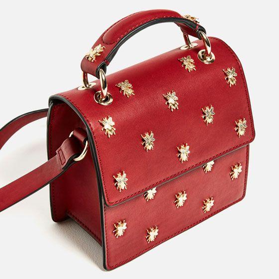 Image 1 of METALLIC DETAIL CROSSBODY BAG from Zara