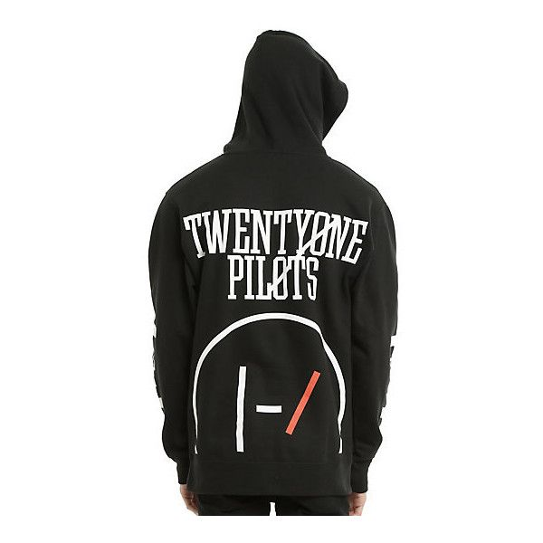 Twenty One Pilots Big Logo Hoodie Hot Topic (£30) ❤ liked on Polyvore featuring tops, hoodies, hooded pullover, skeleton hooded sweatshirt, cotton pullover, hooded sweatshirt and hoodies pullover